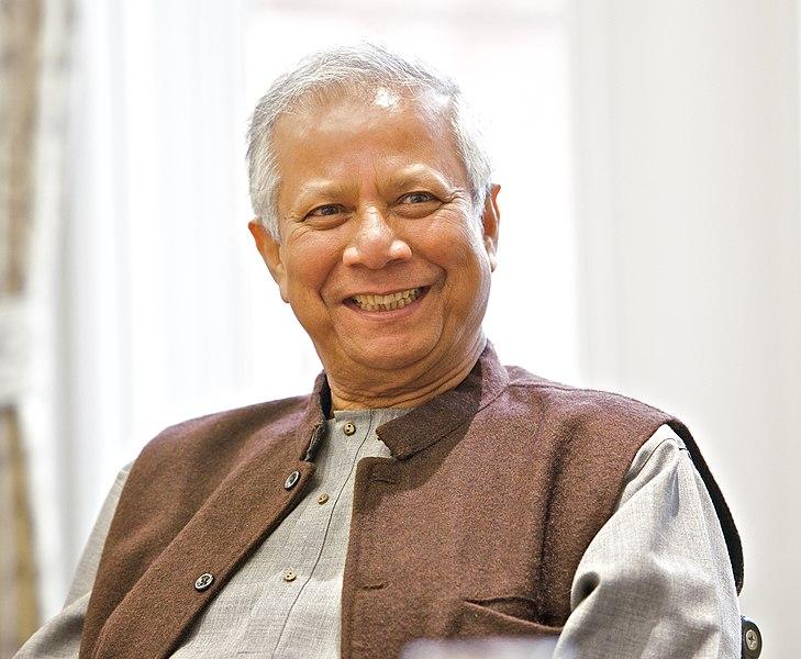 Muhammad Yunus auf einem Social Business Gipfel an der Universität von Salford (2013)